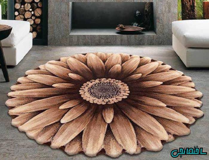 قالیچه مدرن گرد